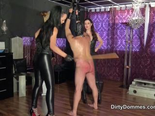 Femdom – Dirty Dommes – Extreme double caning part 2 – Fetish Liza and Lady Victoria Valente on german porn crush fetish fish
