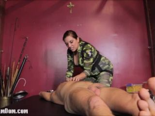 Fascist FemDom  POW Ashtray Dick. Starring Elena De Luca [SPITTING, SMOKING, HUMAN FURNITURE]
