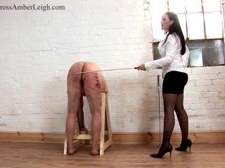 mistress amber leigh  caned to destruction  discipline