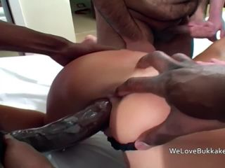 Group sex and cumshots for British chav Chantelle Foxx.