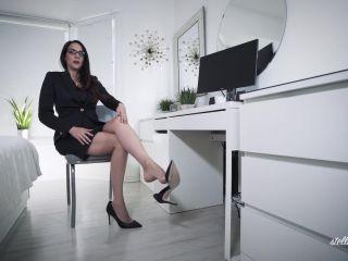 Shoe domination – Stella Liberty – Office Bitch Dangling, danish femdom on femdom porn