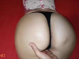 Daddy ejaculate inside Mama's friend ... sex in a prone position- AMATEUR