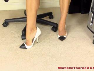 feeder fetish Michelle Thorne - Latex Smoking Secretary, smoking on masturbation porn