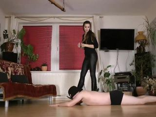 Lady Sofia – Hands walkover boots worship