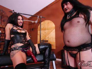 ClubDom – Goddess Tangent – Anal Stretch – Female Domination, Strap-On   latex   femdom porn amateur homemade anal