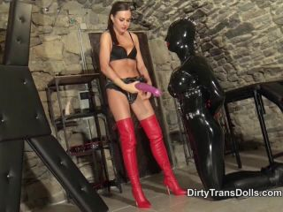 Femdom – Dirty Trans Dolls – Hungry for horse dong part 1 – Tina Kay