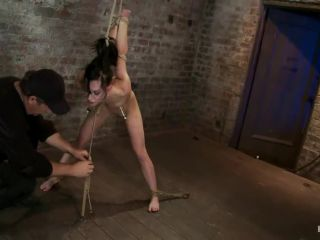 Severely ass flogged, then ass fucked, while gagging on a cock, made to cum HARD! Nipples tortured!