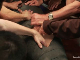 Tickle Torment A Ripped Stud in a Public Bar!!!