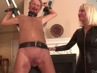 Coral Slaps Old Cock and Balls - Coral / Beating Dripping Balls BRUTA ...