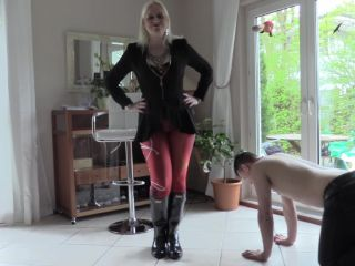 Foot Slave Training – Lady Karame – Hunter Boots full of your cum (boot domination)