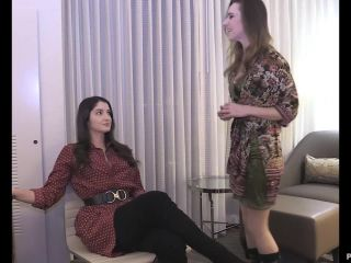 Alora Spanked by the Boss, Paddled, Strapped