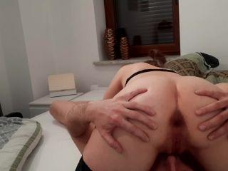 Femdom Cuckold Cleanup Creampie own Cum Eating Cumkiss and Piss [FullHD 1080P] - Screenshot 3