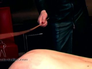 SADO LADIES - Madame Charlotte - Caning In Leather!!!