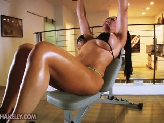 breast expansion and pec flex nude workout