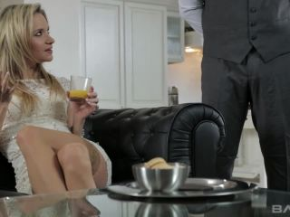 Blonde Rich Bitch Gets Banged In All Three By The Butler