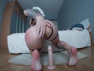 Leah Meow - Blonde Girl Ride Dildo Creamy Pussy P  | lilu_meow | pornstar