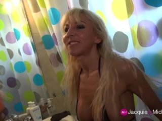 French milf cougar therese public blowbang on the beach
