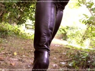 Autumnal Leather Boot Erotica