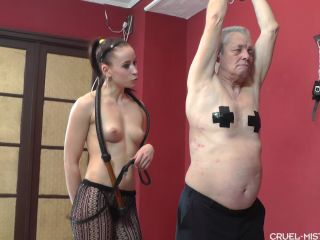 Cruel Mistresses - Long Painful Bullwhip | spanking | bdsm porn