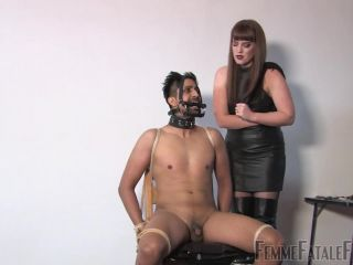 chanel preston femdom gangbang | Femmefatalefilms: Miss Zoe - Snatched - Part 3 | leather thigh boots