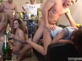 Czech Home Orgy - Mature Czech fuck on a party
