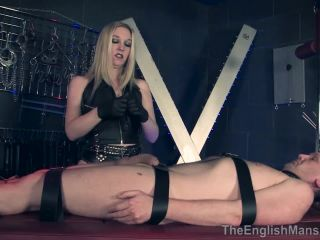 TheEnglishMansion: Mistress Sidonia - Balls Tormented And Emptied - Complete Movie  - leather domina - fetish porn beatrice crush fetish