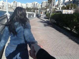 Fucked in front of a beachfront window while pedestrians passing by