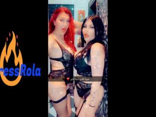 lesbian femdom with Diva arab shemale - XFantazy.com