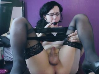 Ball Gagged And Desperate To Cum – emmaescapes - transgender - masturbation porn