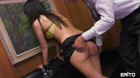 Erito.com- OL_s In Trouble for Her Short Skirt