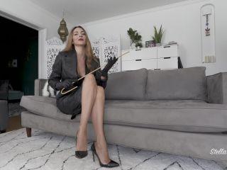 Femdom Pov 2019 – Stella Liberty – Leather Service Demands - pov - femdom porn femdom dildo