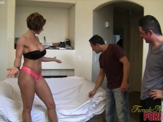 Muscular Mistress Amazon Trashes Her Houseguests
