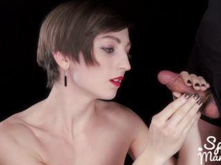bbw femdom facesitting Sperm Mania - Marie's Cum Covered Handjob, tied handjob on femdom porn