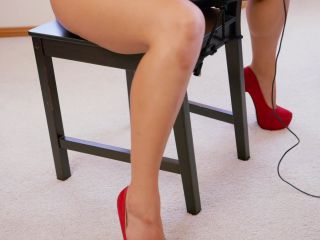 RS-322 ndash Chair Bound in Red Thong Bodysuit - Hard BDSM, Bondage, S ...