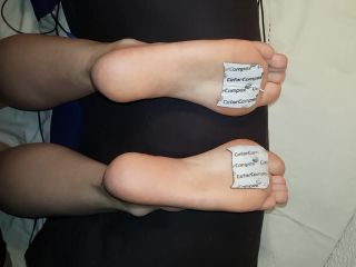 Electro torture and gently tickling friend's feet 1