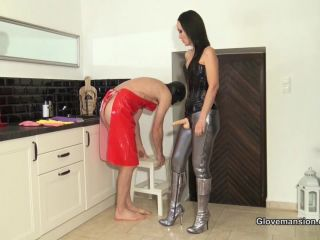 Fetish Liza - Rubber Glove Milking For A Fan Part 1 / Strapon (HD / Femdom) GloveMansion - fitting - fingering amateur blonde anal