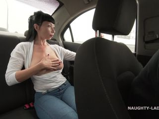 Naughty taxi ride