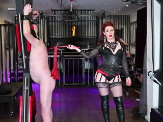cruel crush fetish bdsm porn   Thigh Boots – Mistress Lady Renee – Flogging a wimp   flogging