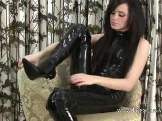Black Latex Sleeveless Catsuit