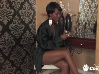 Sierra banks fingers her yummy black sy from behind