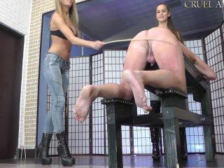 Cruel Amazons – Mistress Amanda, Lady Ariel – Two Mistresses With A Cane | femdom spanking | femdom porn gay bdsm fisting extreme