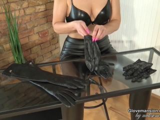 girl crush fetish Glove Mansion – Leather gloves collection JOI, fitting on femdom porn