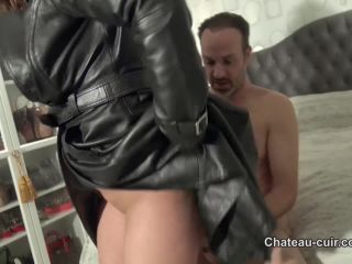 Chateau-Cuir: Coco De Mal - Fucking In Long Leather Coat Part 3   handjob and milking   femdom porn pet play fetish