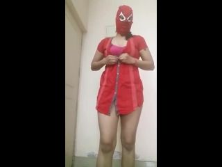 Indian Girl Stripping With Mask