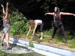 Ballbusting World – Chloe, Nikki and Cate – The Warrior