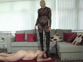 Porn online FemmeFataFefilms – Tongue For Boots – Part 1-2. Starring The Hunteress femdom