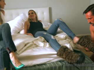 chastity cage femdom Foot Fetish – The Mean Girls – Mean Girl AirBnB – The Foot Worship Bitches – Goddess Platinum and Princess Beverly, foot worship on feet porn