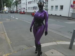 Purple latex and gasmask
