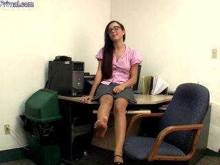 secretary uses her nylons to gt a raise  primal's footjobs  roxane rae