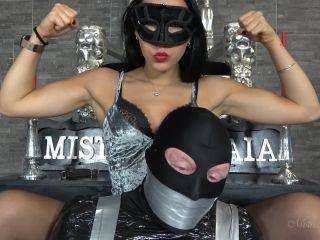 Femdom 2019 Mistress Gaia All Taped Up Hand Over Mouth Mummification Female Domination Bdsm Bondage  Slave